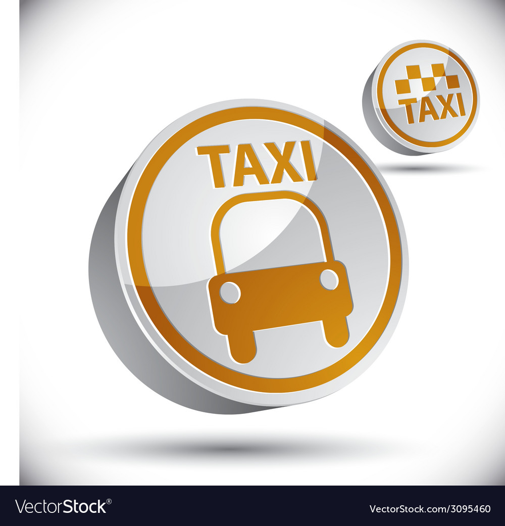 Taxi car icon vector | Price: 1 Credit (USD $1)