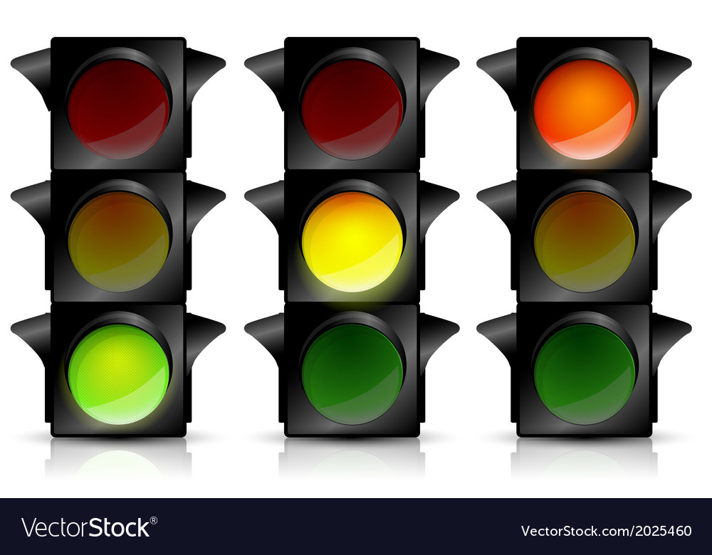 Traffic light vector | Price: 1 Credit (USD $1)