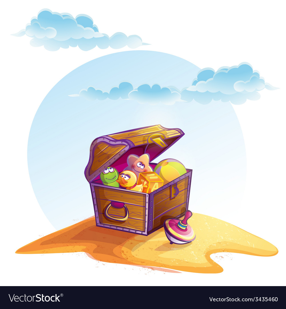 Treasure chest vector | Price: 3 Credit (USD $3)