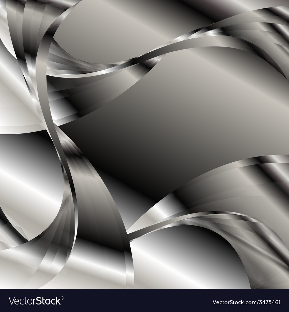Abstract curve glowing with black and white backgr vector | Price: 1 Credit (USD $1)