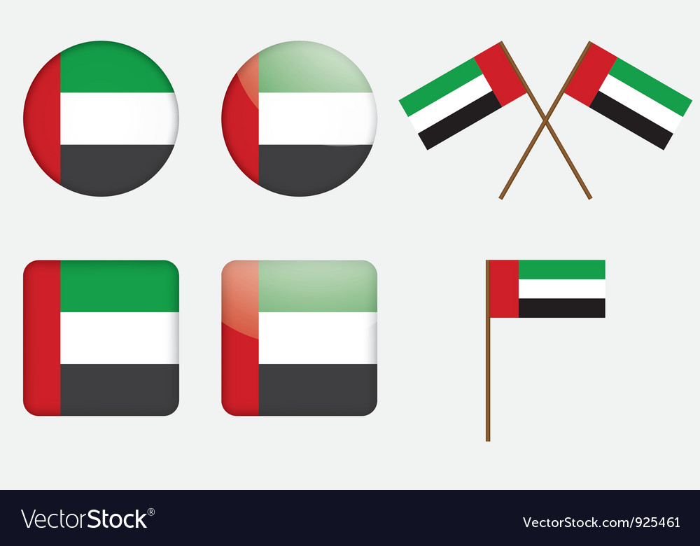 Badges with the united arab emirates flag vector | Price: 1 Credit (USD $1)