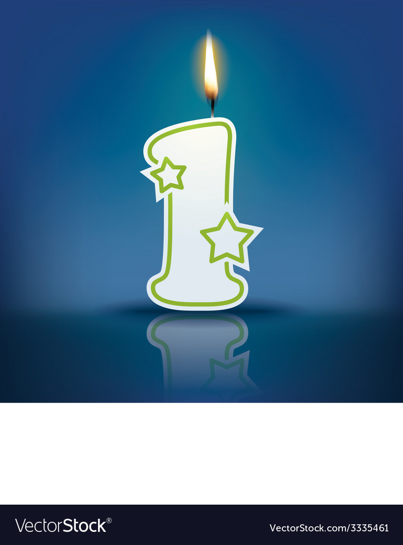 Candle letter l with flame vector | Price: 1 Credit (USD $1)