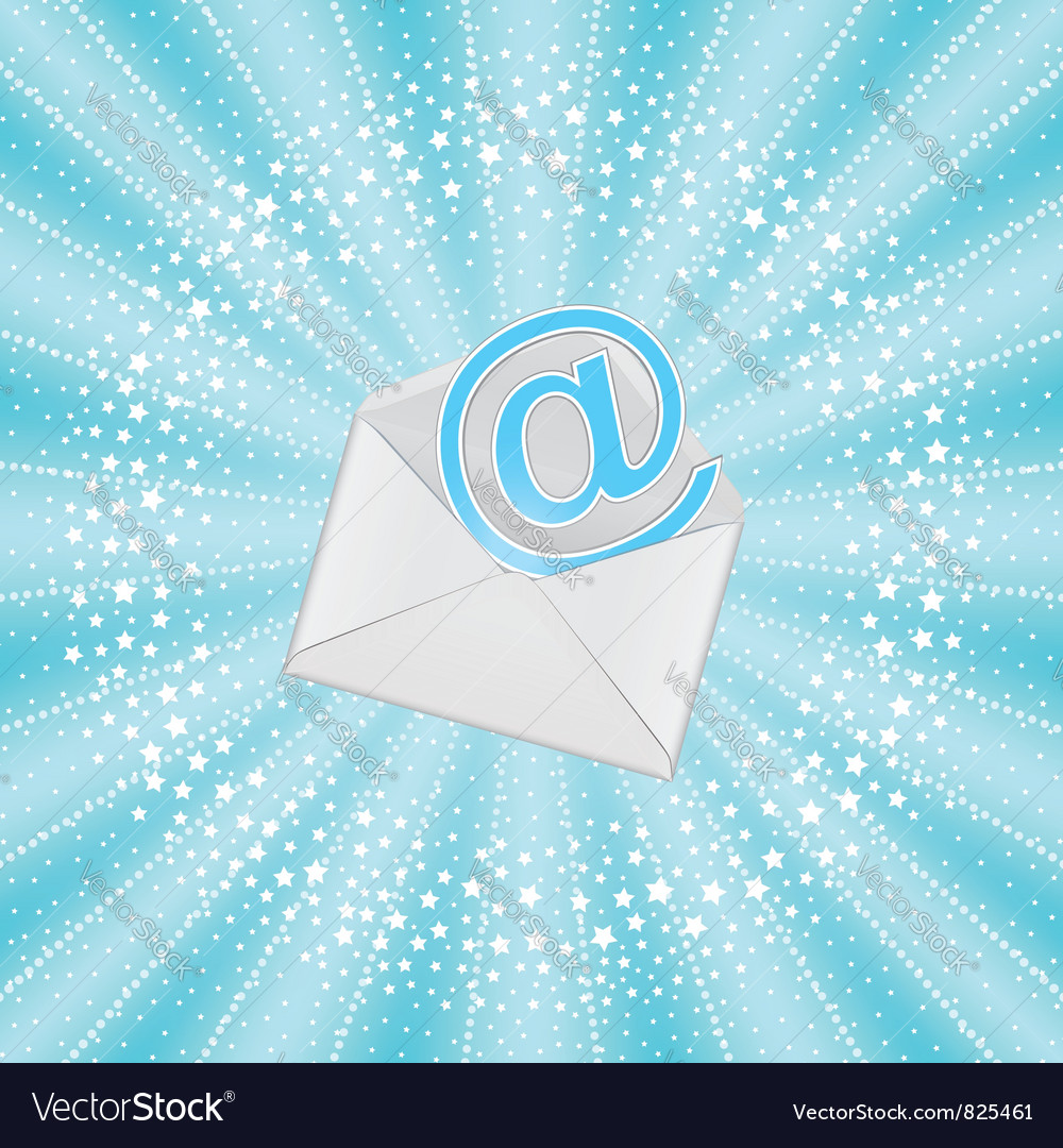 Envelope with email vector | Price: 1 Credit (USD $1)