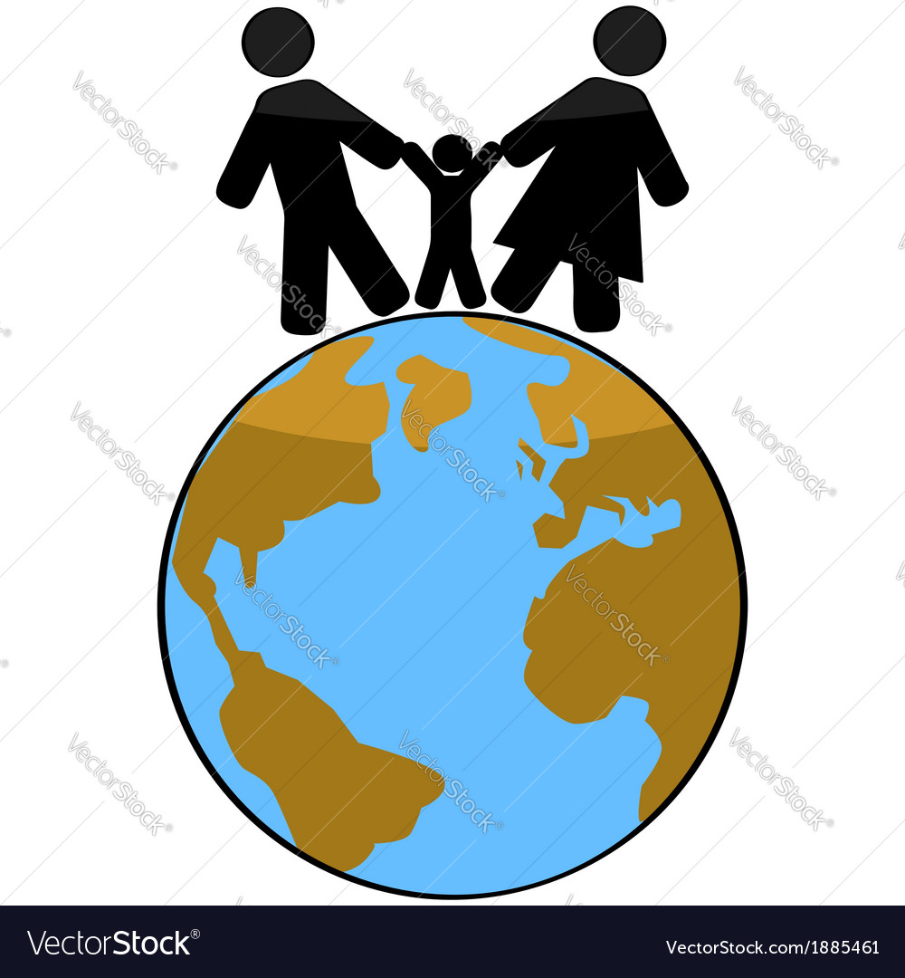 Family earth vector | Price: 1 Credit (USD $1)