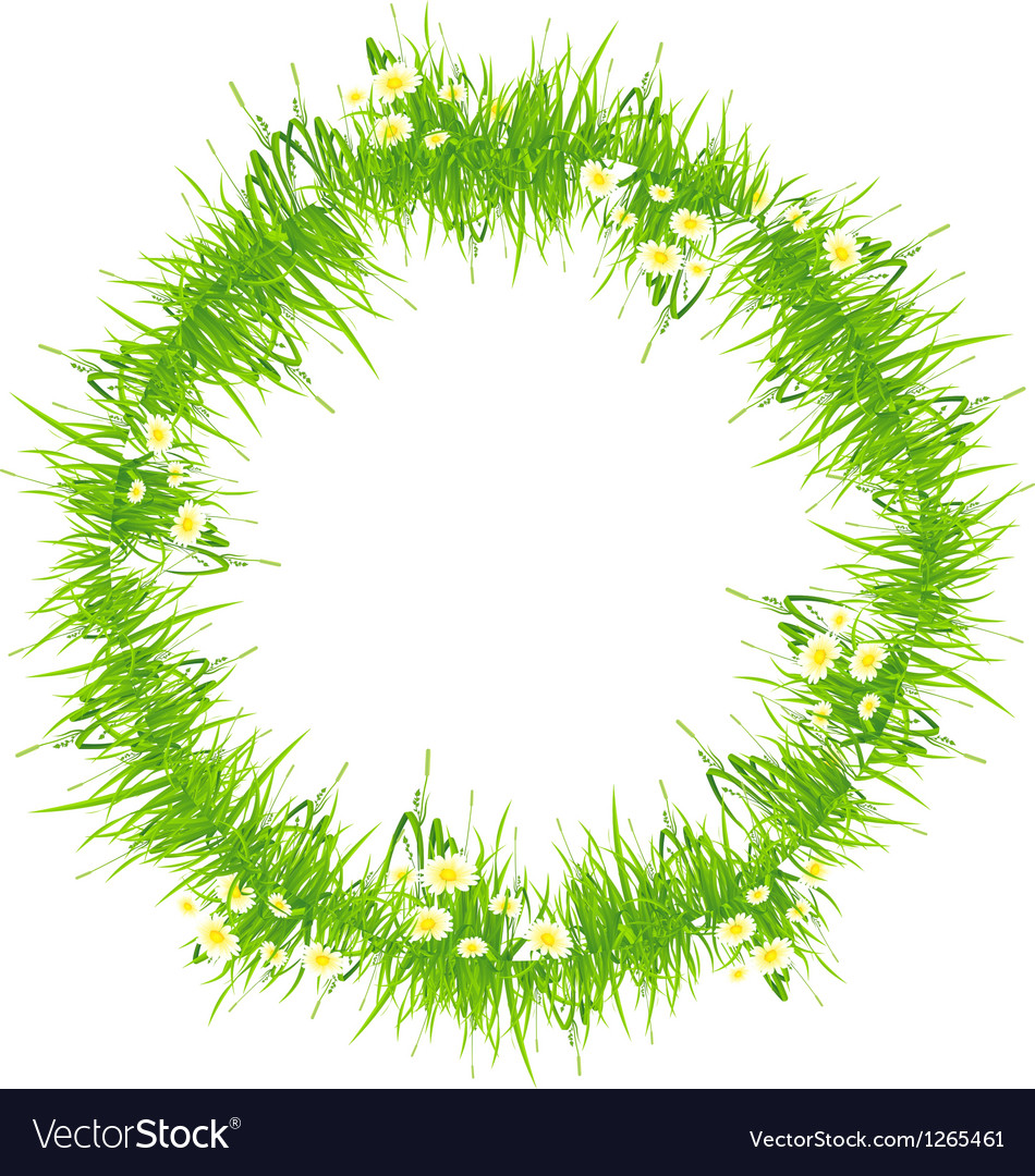 Isolated grass frame vector | Price: 1 Credit (USD $1)