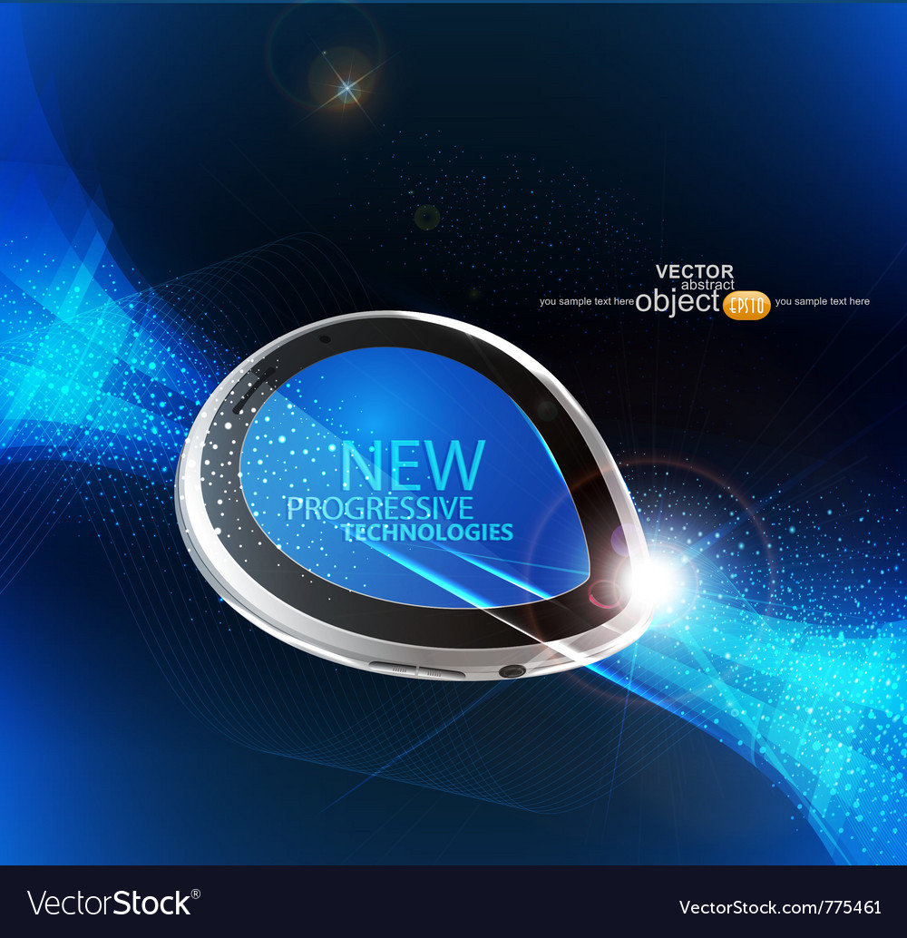 Modern mobile device vector | Price: 3 Credit (USD $3)