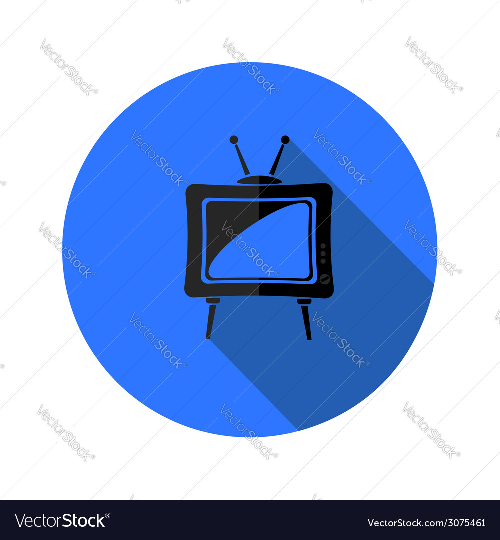 Old tv icon vector | Price: 1 Credit (USD $1)