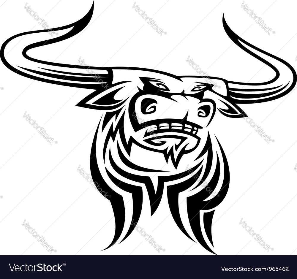 Angry black bull mascot vector | Price: 1 Credit (USD $1)