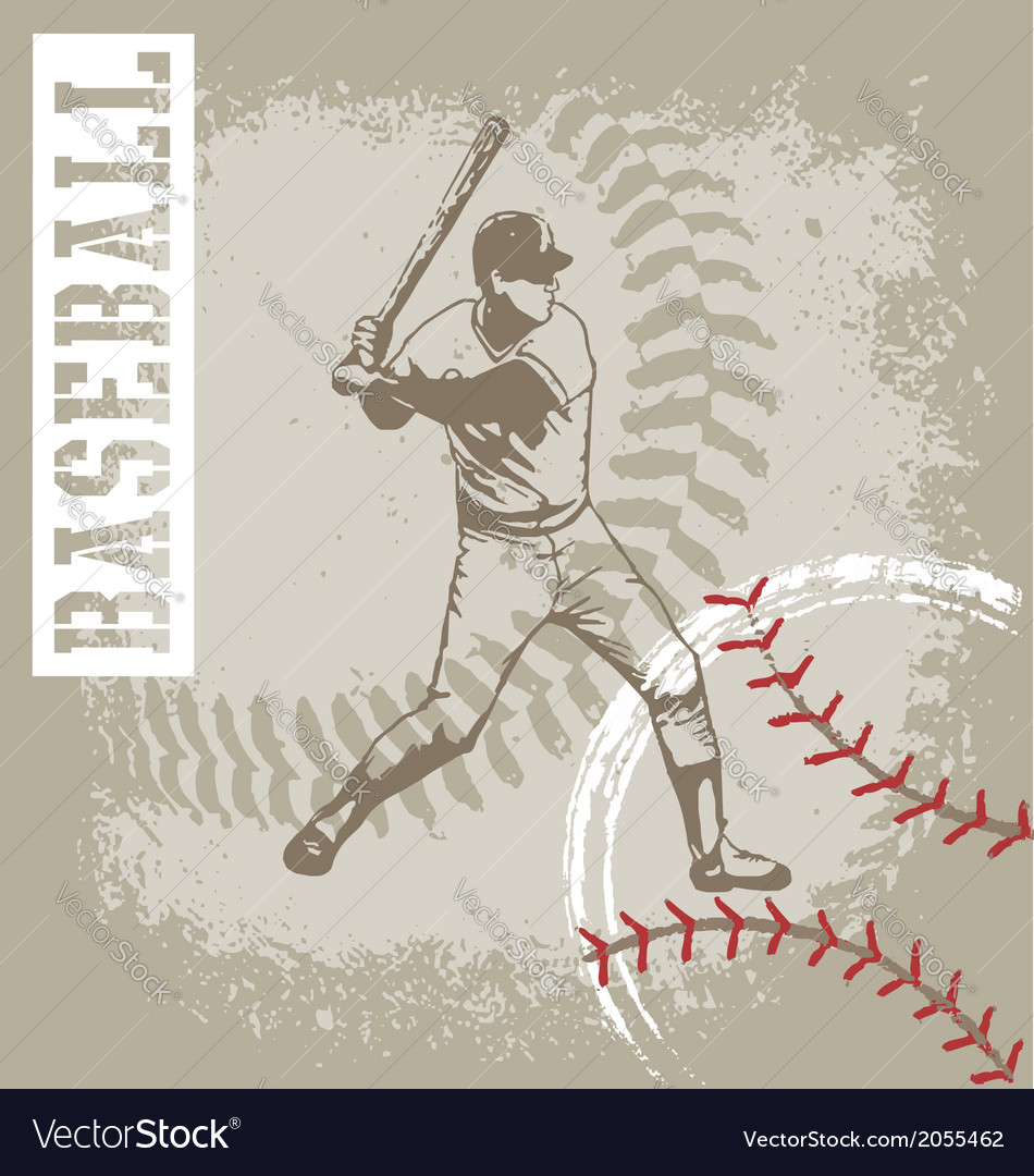 Batter base ball vector | Price: 1 Credit (USD $1)