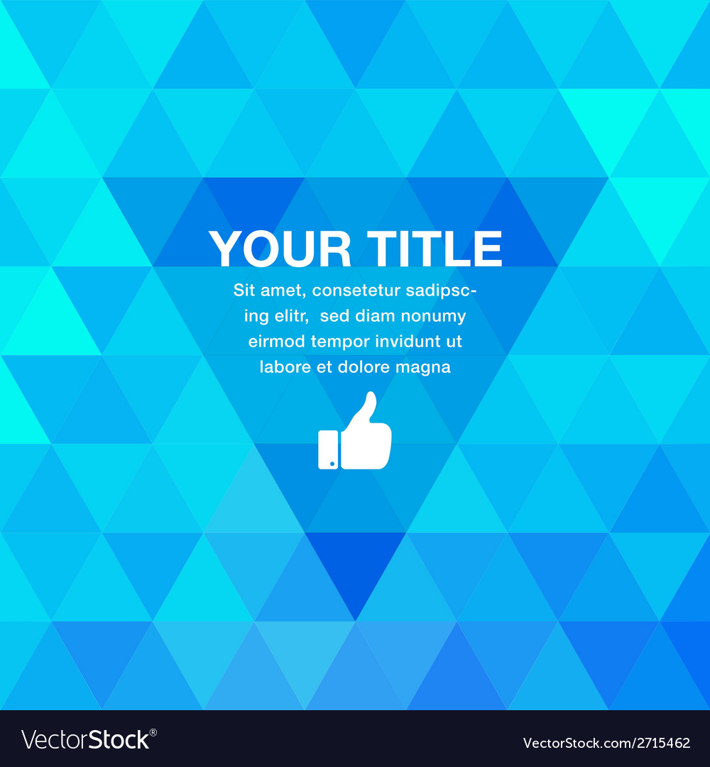 Blue geometric presentation background for your de vector | Price: 1 Credit (USD $1)