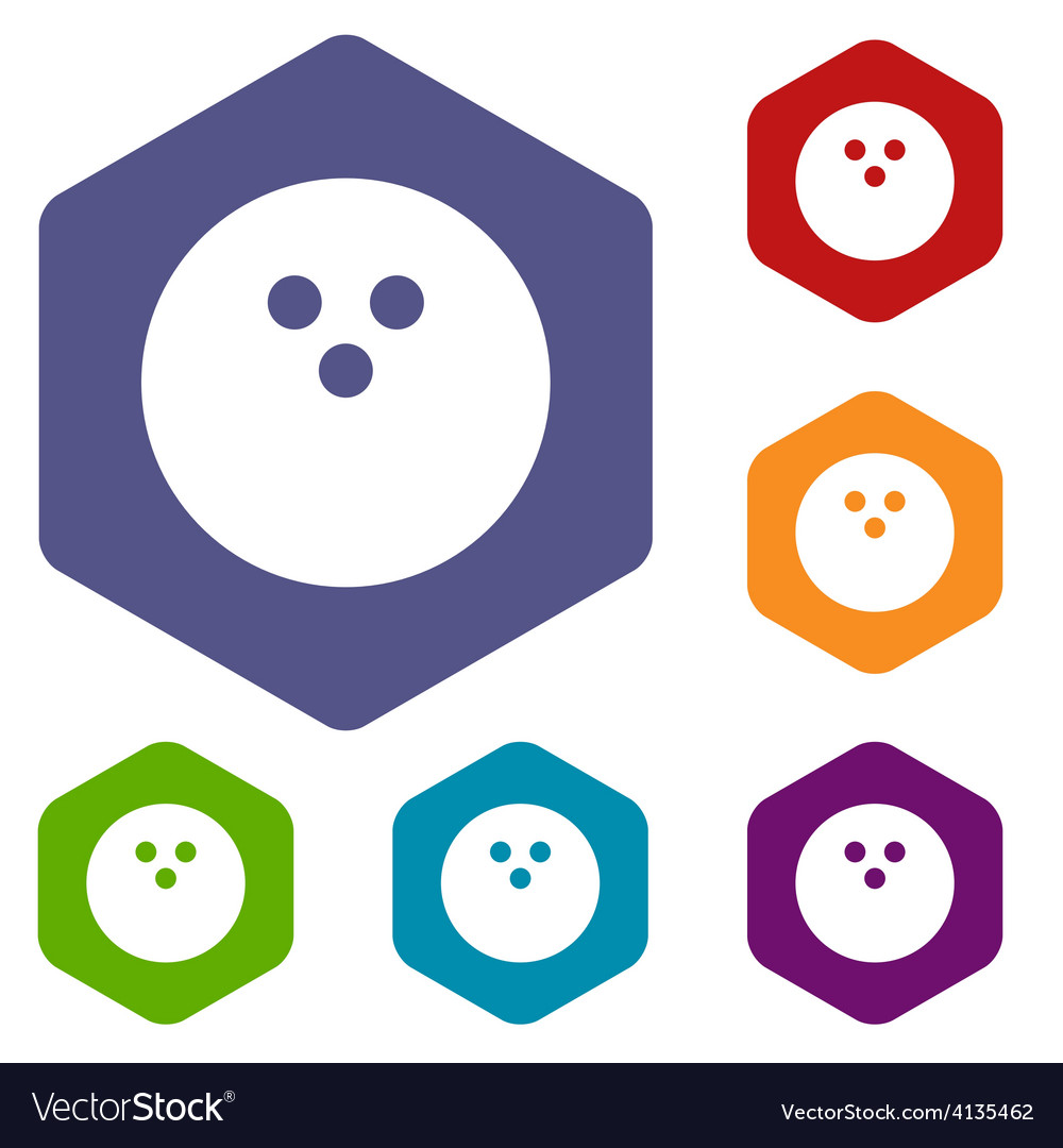 Bowling rhombus icons vector | Price: 1 Credit (USD $1)
