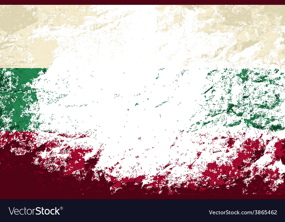 Bulgarian flag grunge background vector | Price: 1 Credit (USD $1)