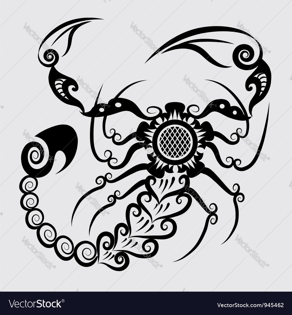 Decorative scorpion vector | Price: 1 Credit (USD $1)