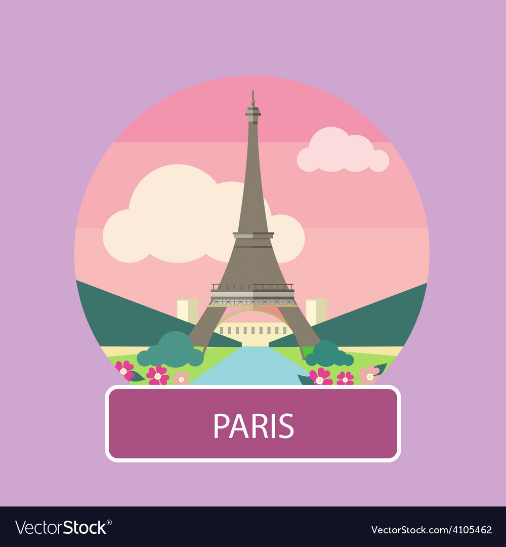 Eiffel tower paris france vector | Price: 1 Credit (USD $1)