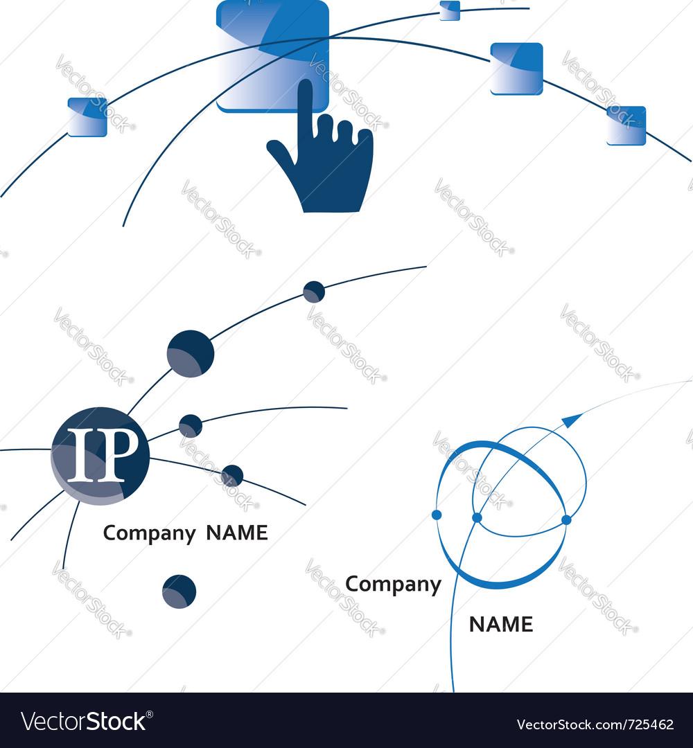 Global communication logo icon internet wireless vector | Price: 1 Credit (USD $1)