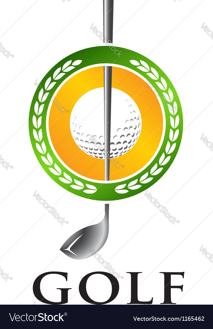 Golf seal vector | Price: 1 Credit (USD $1)