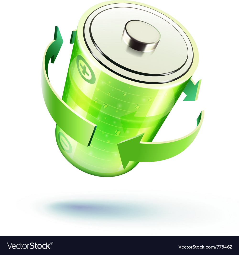 Green battery icon vector | Price: 3 Credit (USD $3)