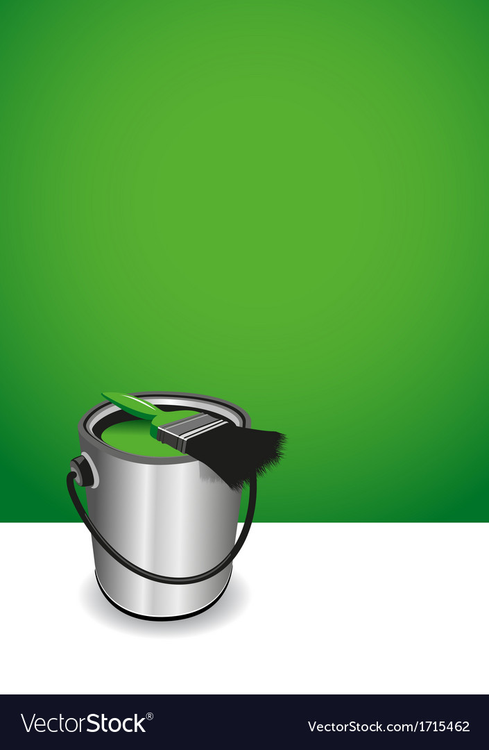 Green paint pot background vector | Price: 1 Credit (USD $1)