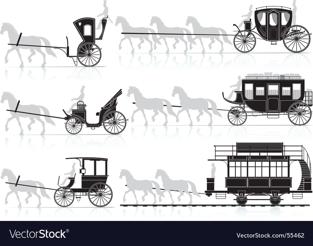 Horse and carriage vector | Price: 1 Credit (USD $1)