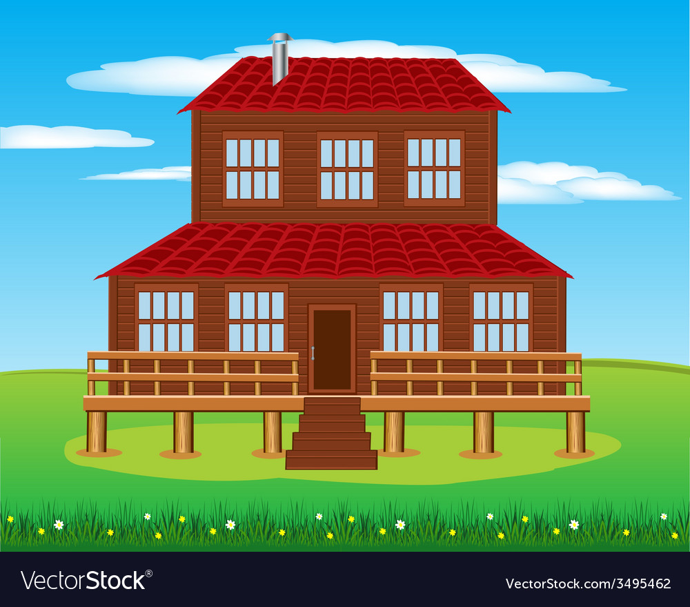 House on nature vector | Price: 1 Credit (USD $1)