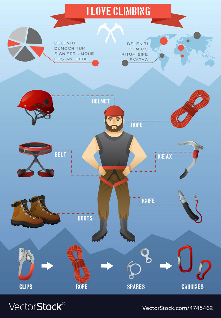 Mountains climbing infographics poster vector   Price: 3 Credit (USD $3)