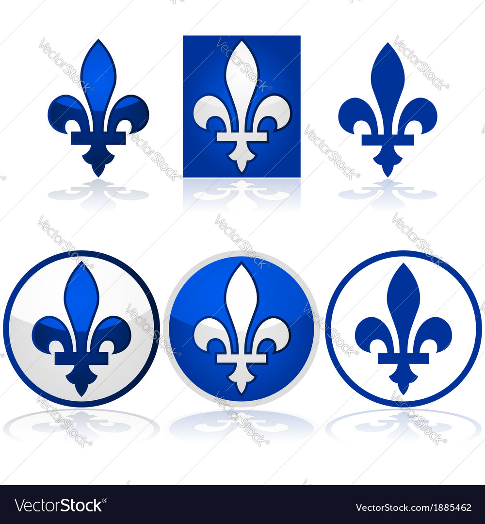 Quebec fleur-de-lys vector | Price: 1 Credit (USD $1)