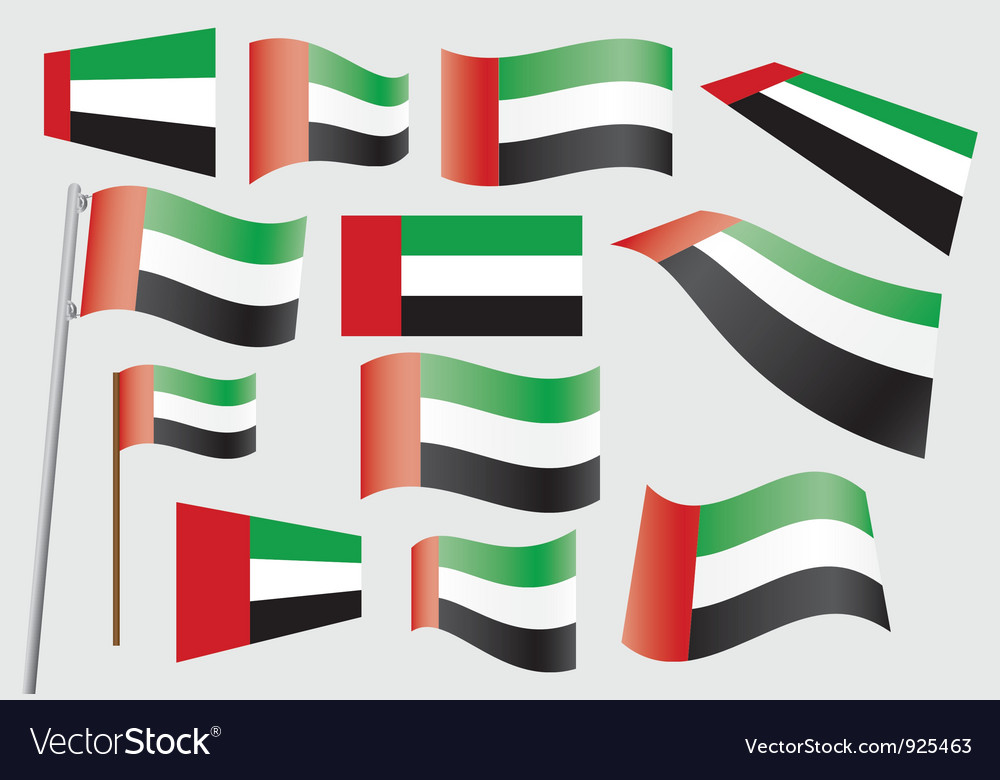 Flag of the united arab emirates vector | Price: 1 Credit (USD $1)