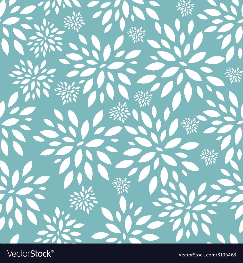 Flower leaves seamless pattern background vector | Price: 1 Credit (USD $1)