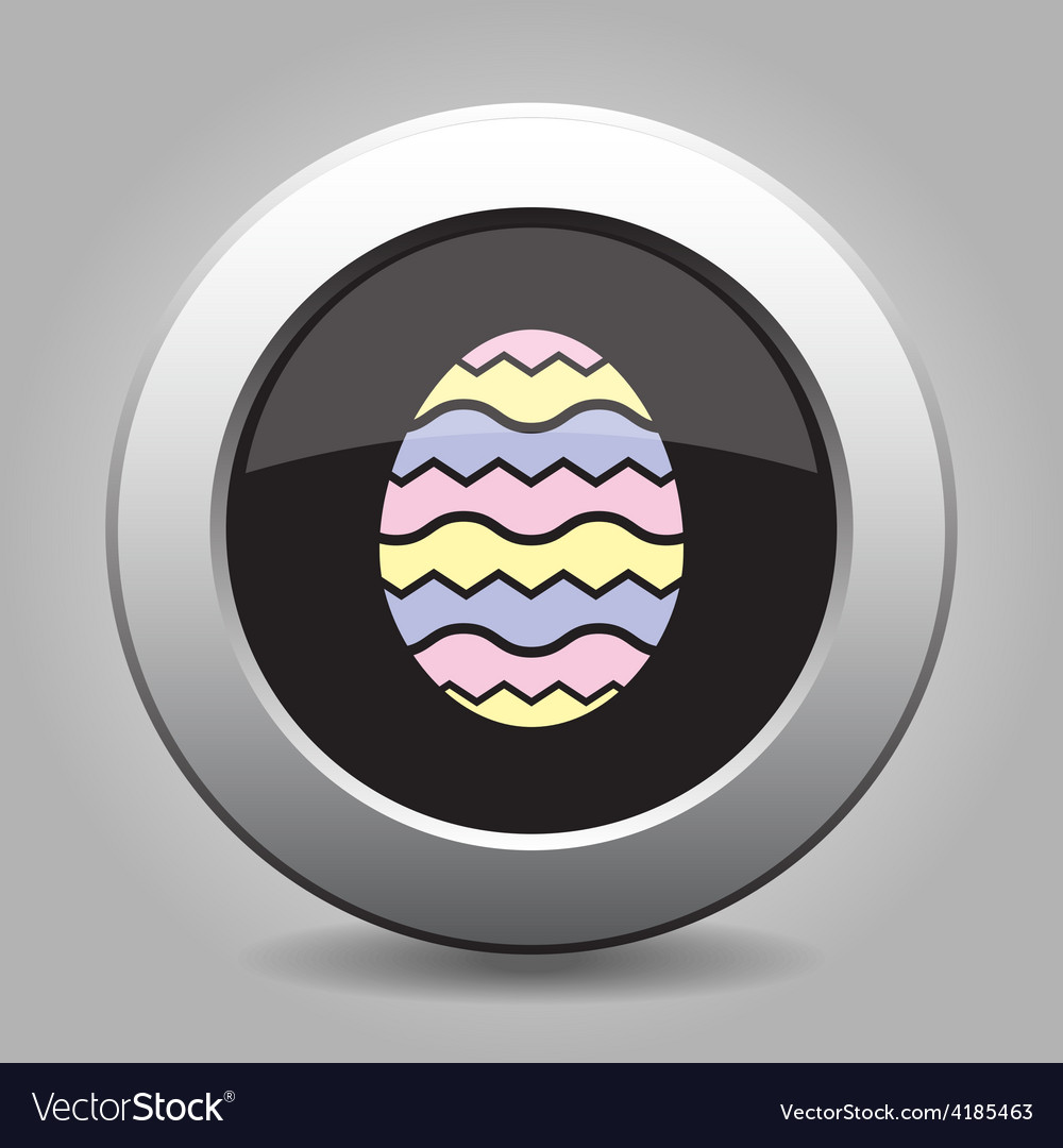 Grey button - easter colored ornamental egg vector | Price: 1 Credit (USD $1)