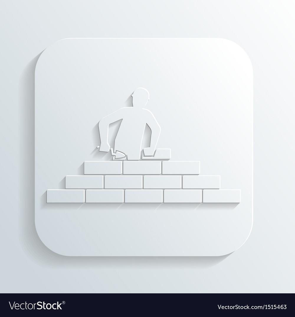 Man puts brick vector | Price: 1 Credit (USD $1)