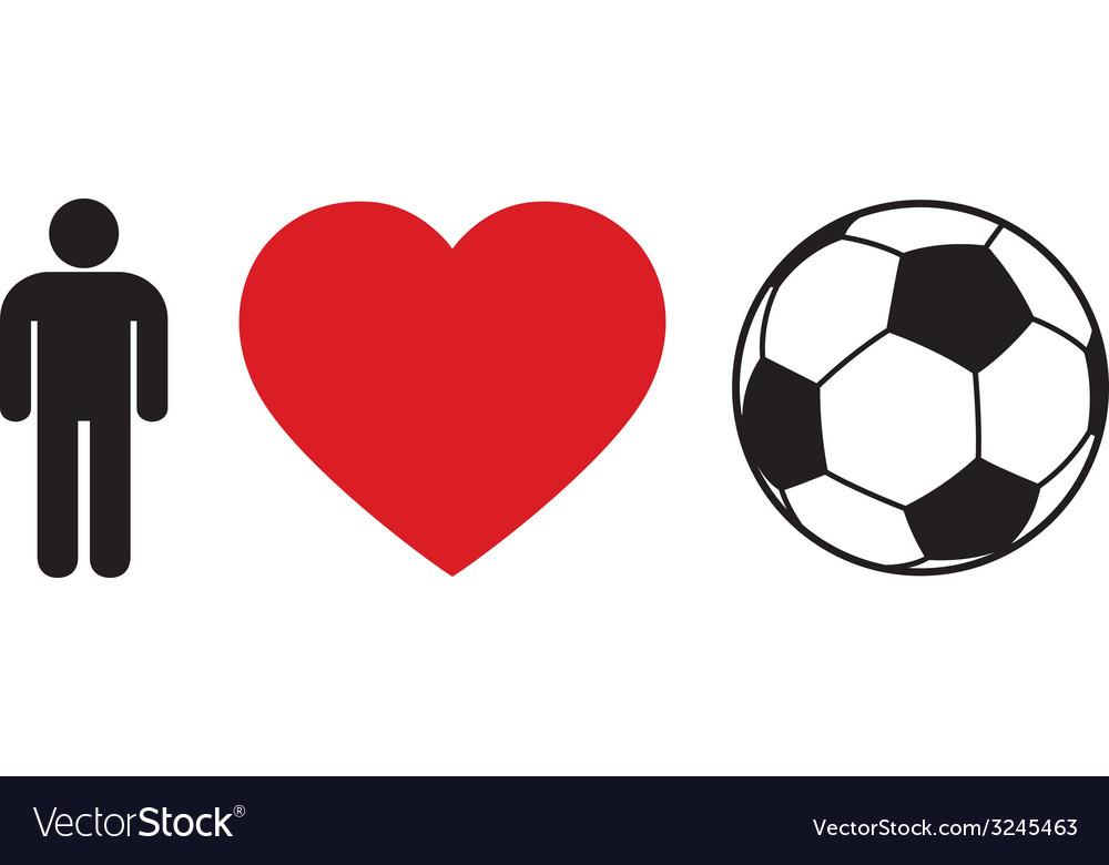 Men love football vector | Price: 1 Credit (USD $1)
