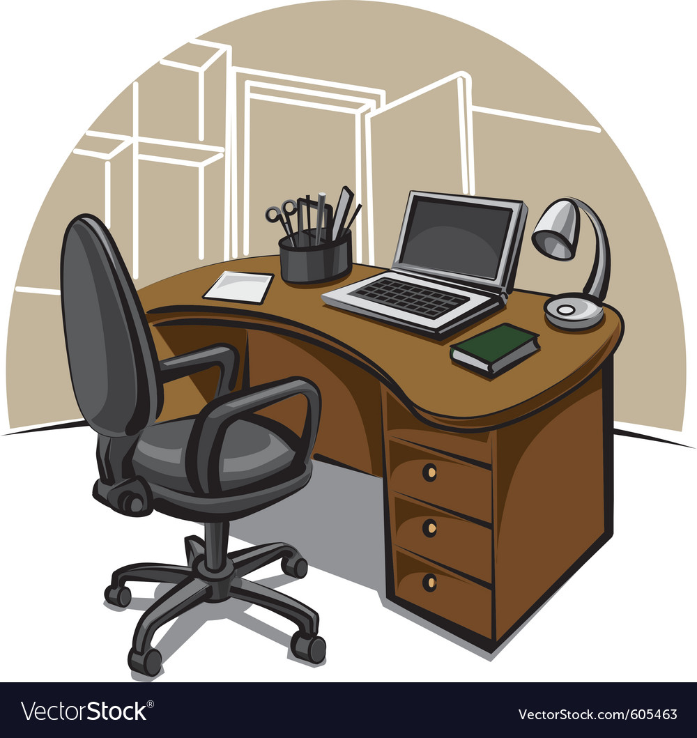 Office work place vector | Price: 3 Credit (USD $3)