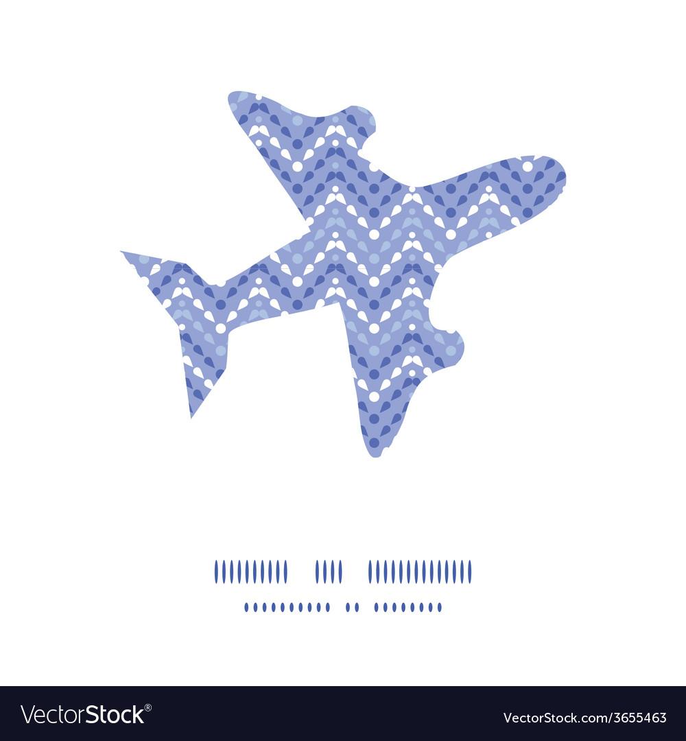 Purple drops chevron airplane silhouette pattern vector | Price: 1 Credit (USD $1)