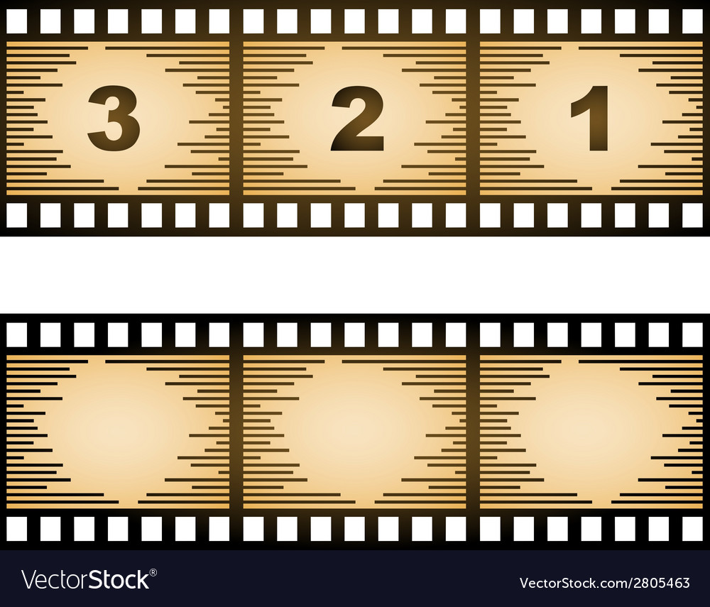 Striped blank film strip vector | Price: 1 Credit (USD $1)