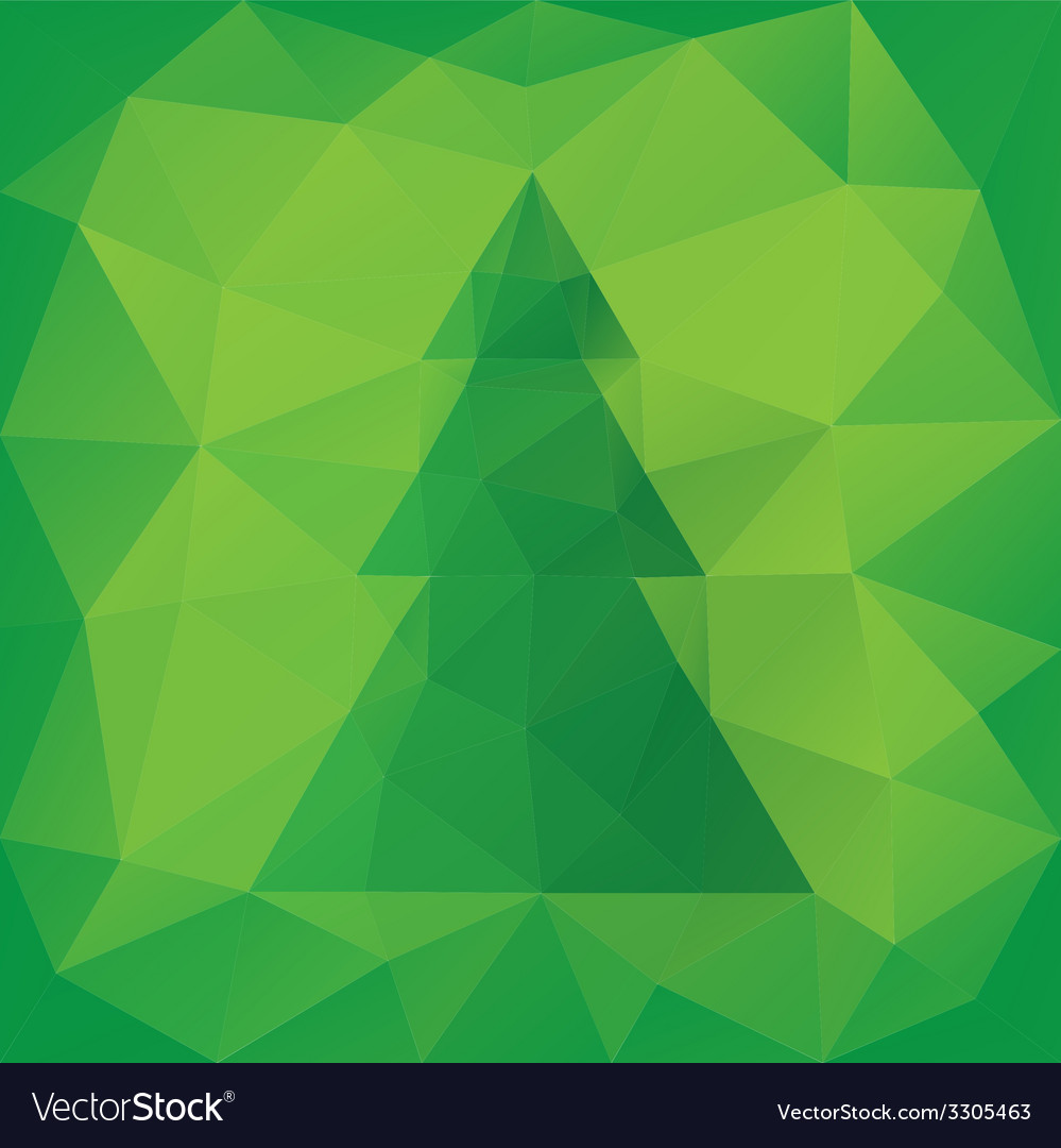 Triangular christmas card vector | Price: 1 Credit (USD $1)