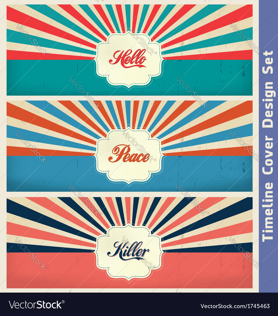 Vintage cover design template vector | Price: 1 Credit (USD $1)