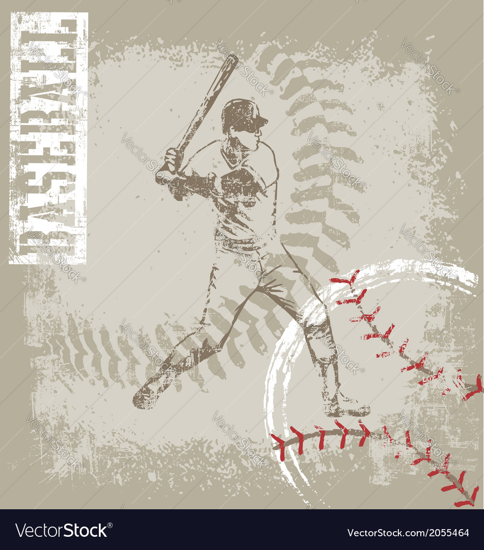 Batter base ball crack vector | Price: 1 Credit (USD $1)