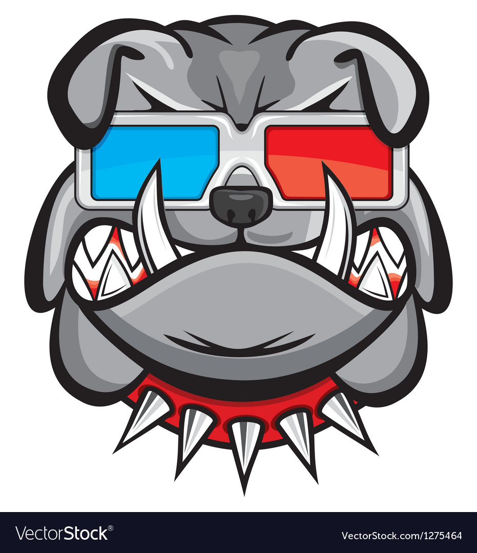 Dog with 3d glasses vector | Price: 1 Credit (USD $1)