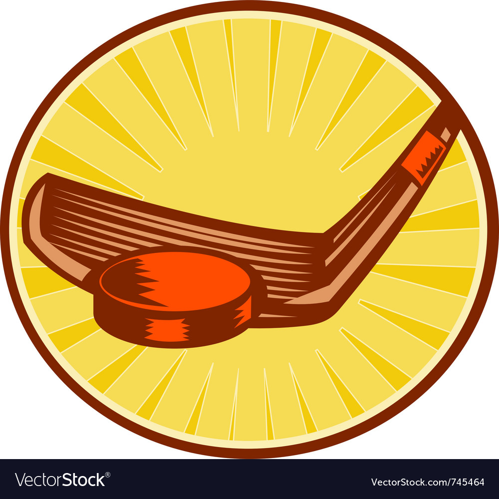 Ice hockey stick hitting a puck vector | Price: 1 Credit (USD $1)
