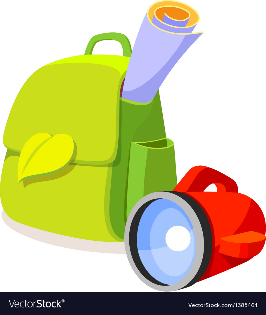 Icon bag and lamp vector | Price: 1 Credit (USD $1)