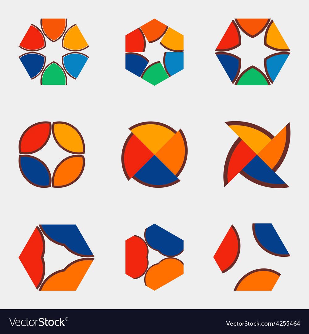 Nine logos vector | Price: 1 Credit (USD $1)