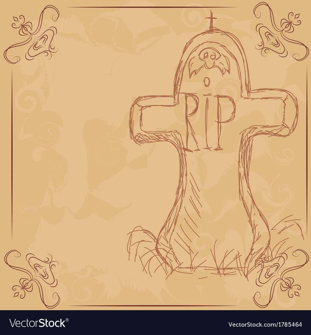 Rip  headstone banner for halloween vector | Price: 1 Credit (USD $1)