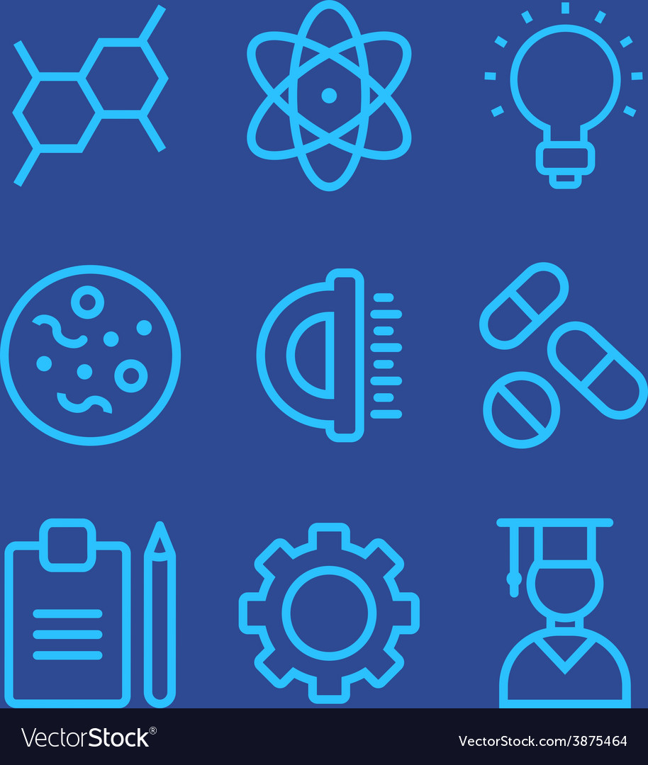 Science icons set vector | Price: 1 Credit (USD $1)