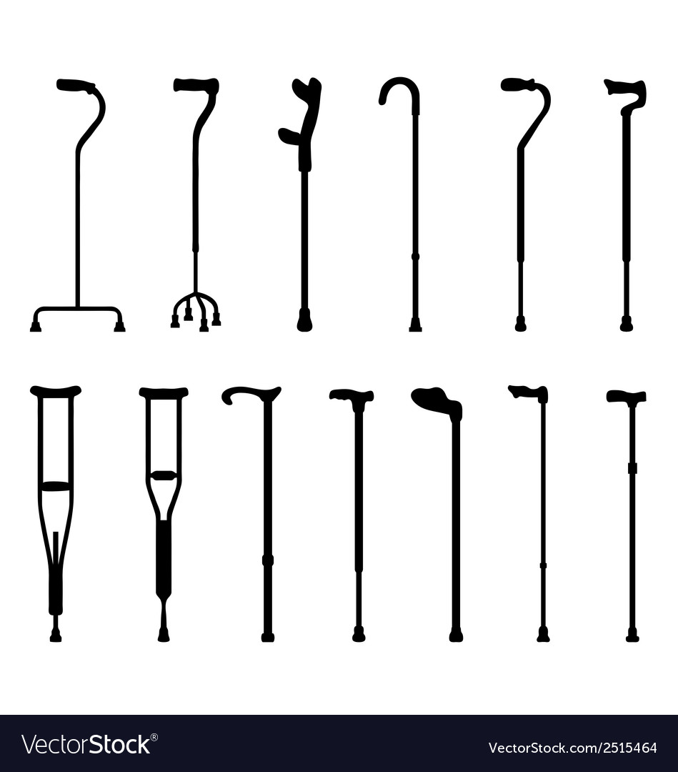 Sticks and crutches vector | Price: 1 Credit (USD $1)