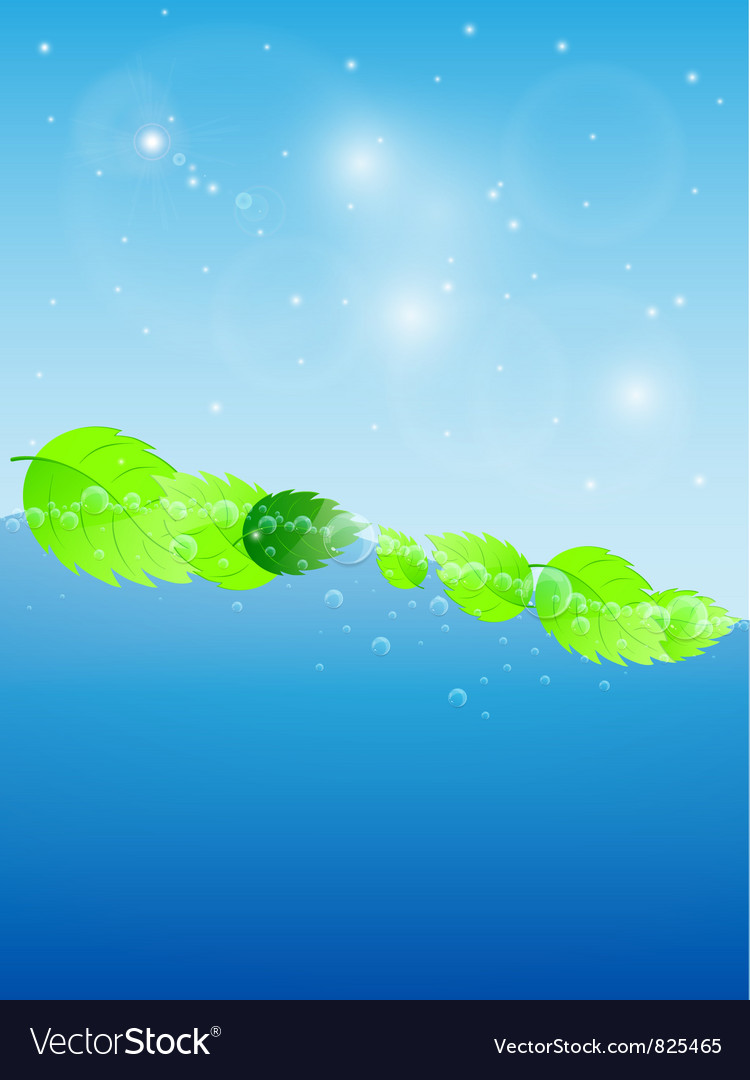 Blue water wave vector | Price: 1 Credit (USD $1)