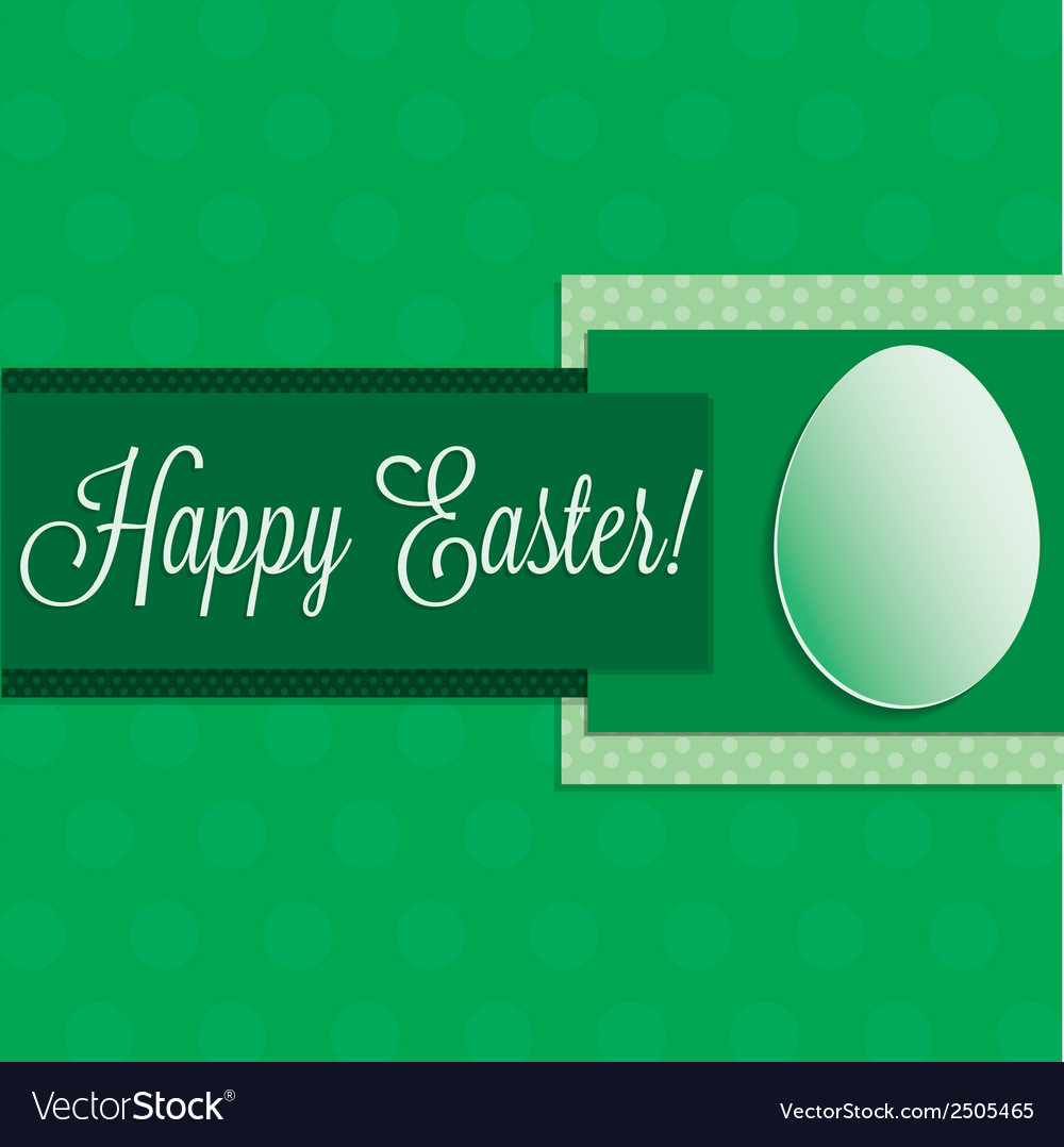 Bright happy easter card in format vector | Price: 1 Credit (USD $1)