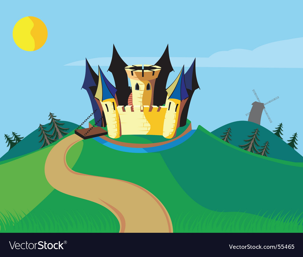 Castle carton vector | Price: 1 Credit (USD $1)