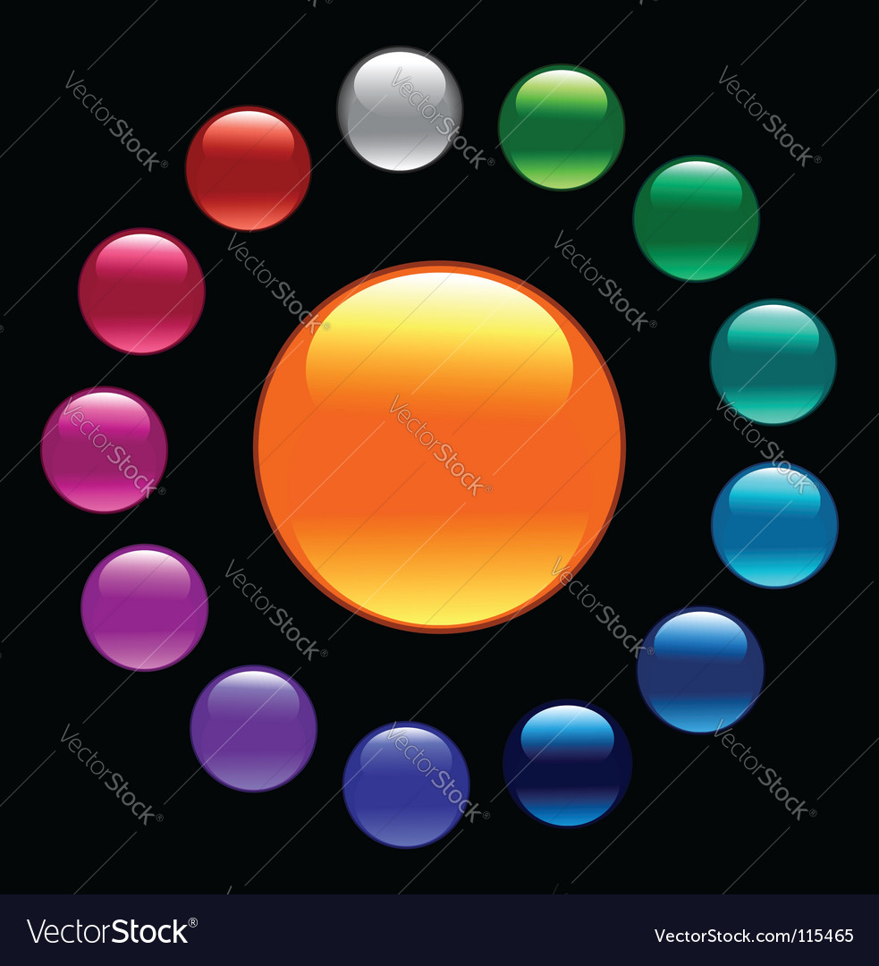Color buttons vector | Price: 1 Credit (USD $1)