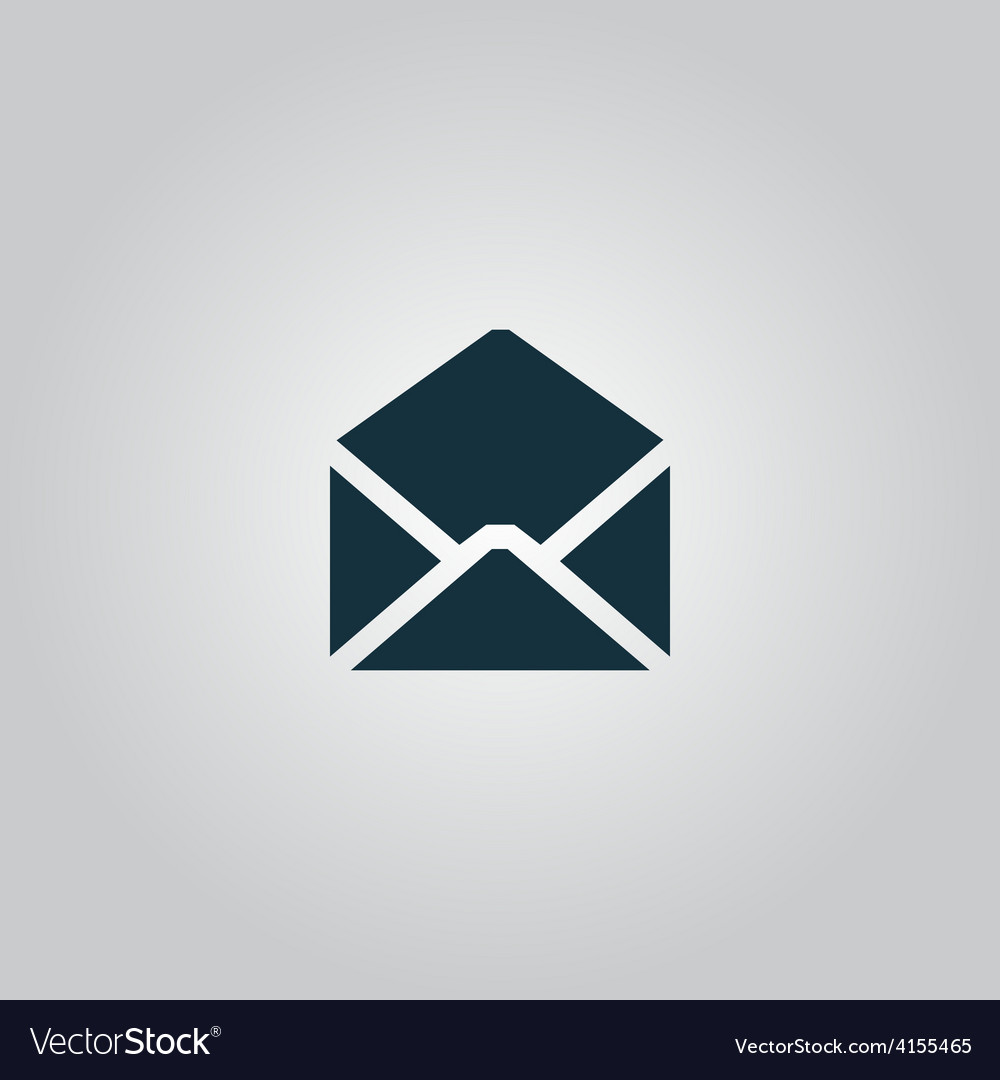 Envelope mail icon  flat vector | Price: 1 Credit (USD $1)