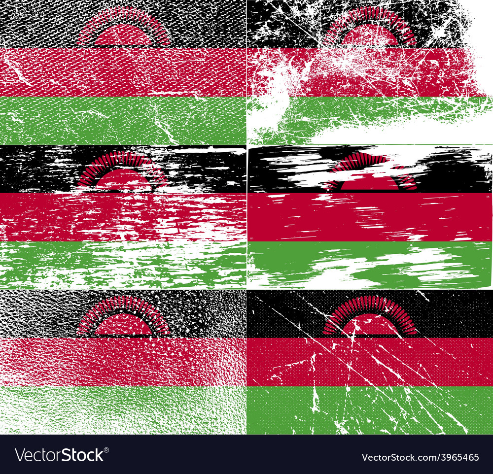 Flag of madagascar with old texture vector | Price: 1 Credit (USD $1)
